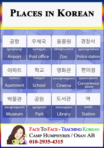 Places-in-Korean